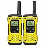 Motorola TLKR T92 H2O PMR - Walkie-Talkie (IP67, Resistente a la Intemperie, Alcance hasta 10 km), Color Negro y Amarillo