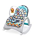 Baby Bucket Portable Infant to Toddler Baby Bouncer Rocker Swing Musical Chair with Soothing Vibrations and Music–(Grey-88957)