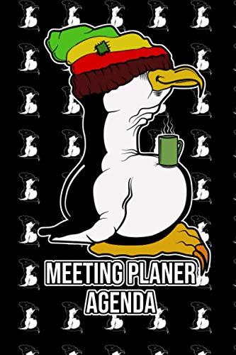Meeting Planer Agenda mit Tux Linux Rasta Pinguin macht Kaffeepause: Meeting Agenda Planer ToDo Listen und Jahreskalender 2021