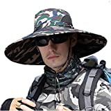 HYCOPROT Sombreros de Sol Súper Anchos para Hombres, Cubo de Pesca al Aire...