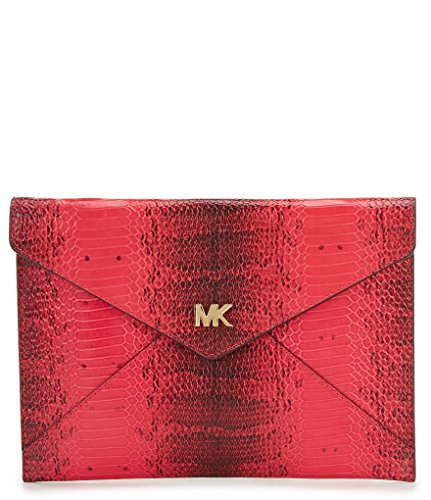 Michael Kors Barbara Medium Soft Envelope Clutch, Pink