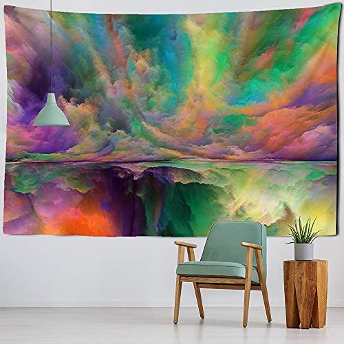 KHKJ Tapiz de Pared Colorido Tapiz de Mandala Indio Tapiz de Chakra Hippie Tapiz de Pared Decorativo Bohemio Estera de Yoga A5 200x150cm