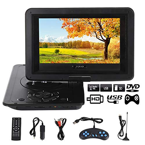 Best Prices! DVD Player 13.9inch HD TV Movies Portable DVD Player Screen LCD Mobile Swivel USB Scree...