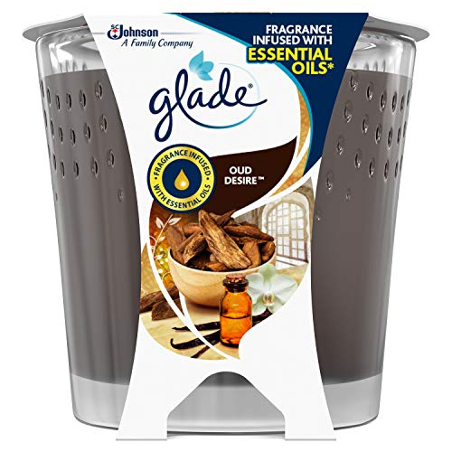 Glade Candle Oud Desire Air Freshener 129g, Pack of 6