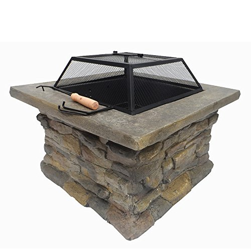 Best Price Palm Springs Outdoor/Patio Stone Coal/Wood Burner Fire Pit