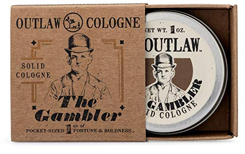 Outlaw Cologne - The Gambler Bourbon-inspired Solid Cologne - The Warm Smell of Whiskey and Old-fashioned Tobacco with a Hint of Leather; Smell like Fortune and Boldness - Men's or Women's Cologne 1oz