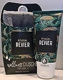 LaVida Relax-Geschenk-Set Wellness Dusch,'My Revier', con certificado de gel de ducha natural con una toalla de algodón orgánico