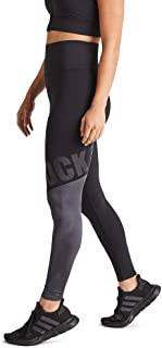 Rockwear Activewear Women's Midnight Fl Logo Tight Black 14 from Size 4-18 for Full Length High Bottoms Leggings + Yoga Pa...