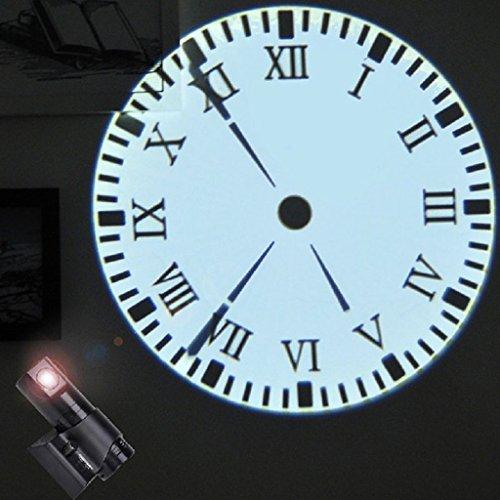 D DOLITY Orologio Da Proiezione Analogico Da Parete Per Soggiorno - Con telecomando nero