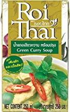 ROI THAI, Ready to cook, Thai Green curry soup, Curry sauce, Simmer sauce, Instant curry sauce, Curry paste with coconut milk, Thai food, 8.4 OZ (Pack of 1)
