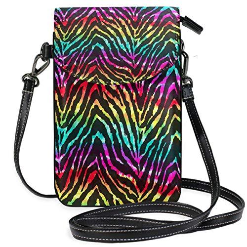 ClownFish Colorful Animal Tiger Zebra Print Mini bolsos de hombro cruzados Monedero para celular Billetera...