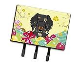 Caroline tesoros del bb6128th68huevos de Pascua alambre pelo perro salchicha Dapple correa o titular de la clave, Triple, multicolor