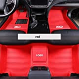Hunulu Alfombrillas De Coche Personalizadas para Todos Los Modelos Volvo S60 S80 C30 S40 Xc90 V40 Xc60 V50 V90 V60 XC-Classi XC40 S90 Estilo AutomáTico, Rojo