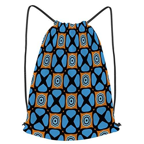 Impermeable Bolsa de Cuerdas Saco de Gimnasio papel tapiz de diseño de tela de patrones sin fisuras abstractas Deporte Mochila para Playa Viaje Natación