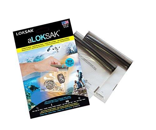 Loksak aLoksak Doppel-Reißverschluss, wasserdicht ,2 Beutel, Tasche, durchsichtig, 5 x 4 Inch (12,0 x 10,2 cm)