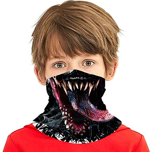 Venom Face Kids Neck Gaiter Kids Summer Face Covering For Girls Bandanas Face Scarves Headband
