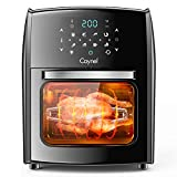 Caynel 12.7 Quart Digital Air Fryer with Rotisserie, Dehydrator, Convection Oven, 8 Presets to Air Fry, Roast, Dehydrate, Bake & More, Glass Viewing Window, Accessory Kit and Recipe Book Included, Large Capacity, 1700W