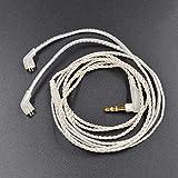 Auriculares Desmontables, Color Plateado, Cable de audífono de actualización para el Cable de Audio Jack de 3,5 mm de 3 Polos para Auriculares KZ ZST / ED12 / ZSR / ES3/ZS10/AS10/BA10/AS06