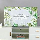 catch-L Interno Cover TV LCD Copertura Antipolvere Desktop Coperchio Display del Computer Telo di Copertura (Color : Light Luxury Leaves, Size : 40-43inch)
