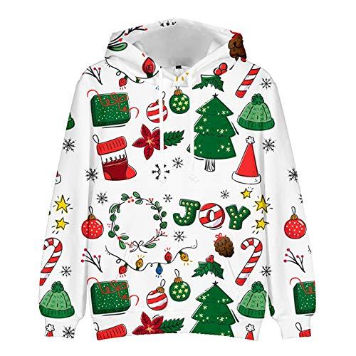 Mr.BaoLong&Miss.GO Otoño E Invierno Suéter De Navidad para Hombres Suéter De Pareja Entre Padres E Hijos Sudadera De Navidad Suéter Abrigo Camisa De Fondo