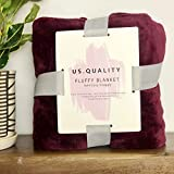 US Quality Lightweight Super Soft & Cozy Fleece Blanket – Premium Throw for Beds, Travel, Home Decor and Pets – 40x60 Inches All Season Anti-Pill Blanket (Maroon)
