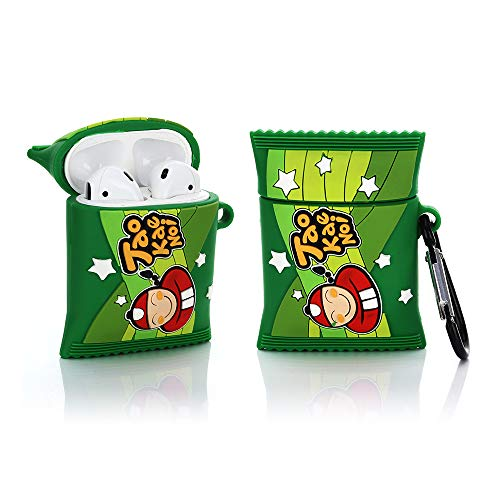 YIGEYI Silicone Case Compatible with Airpods 1&2 Funny Cute 3D Cartoon Cover [Snacks Series 1] (TAO KAE NOI)