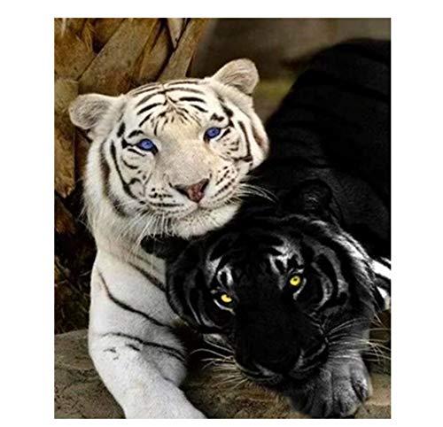 Hh Puzzle Jigsaw 1000 Piezas Blanco y negro Tigre Animal Adulto Ocio Entretenimiento Niños Juguetes educativos Decoración navideña