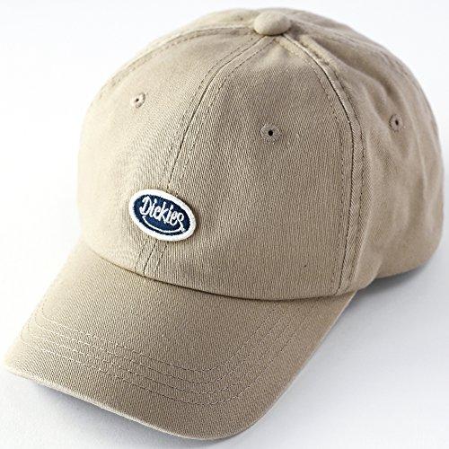 Dickies (ディッキーズ) SMILE GIVE エンブレム ローキャップ ポロ キャップ 帽子 メンズ レディース ユニセックス 無地 874 6パネルキャップ コットンキャップ ロゴ ベースボールキャップ <ベージュ>