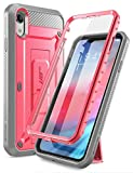 SupCase Unicorn Beetle Pro Series Case Designed for iPhone XR, with Built-in Screen Protector Full-Body Rugged Holster Case for iPhone XR 6.1 Inch (2018 Release) (Pink)