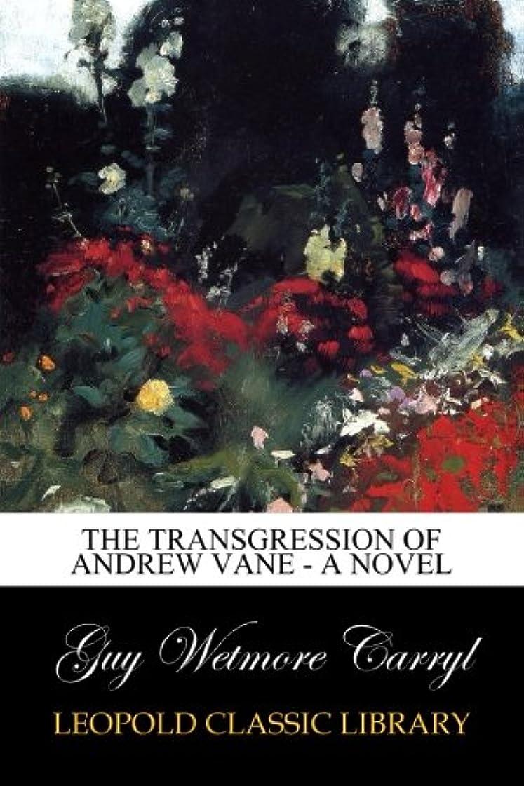 化合物納得させる間に合わせThe Transgression of Andrew Vane - a Novel