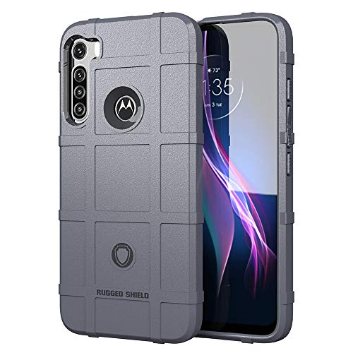 NOKOER Funda para Motorola One Fusion Plus, TPU Material Case [Armadura] Anti-Caída Funda para Telefono [Antideslizante] [Huella Digital Anti] Cover - Gris