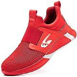 ZYFXZ 2021 Nuevos Zapatos de Seguridad de la Moda/Zapatos de Trabajo Transpirables ultraligerosos con Tapa de Punta de Acero y zevlar Missole Punchure Proof Provering Sneakers Resistente al Desgaste