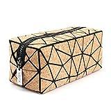 Tikea Make up Tasche von Kork, Geometrische...