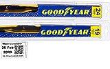 2010-2013 Mazda 3 Replacement Wiper Blade Set/Kit (Set of 2 Blades) (Goodyear Wiper Blades-Premium)...
