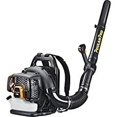 48CC 2-stroke engine 200 mph/475 cfm Cruise control. Heavy duty frame This lightweight blower is packed with all sorts of load-reducing harness for optimal fit, superior comfort, minimal strain, and reduced fatigue for users of any size Variable spee...