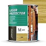 LASUR PROTECTOR MATE Protege, decora y embellece todo tipo de madera (750 ml, PINO)