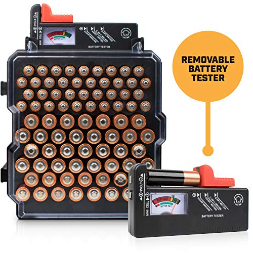 Check Out This Battery Organizer Storage Case with Battery Tester – Volt Vault 83 Slot AA/AAA Batt...