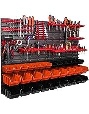 115 x 78 cm plank kleine onderdelen gereedschap organizer wandplank opbergdozen stapelboxen werkplaats garage hobbyruimte gereedschapsruimte