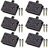 VISSQH 6pcs Interruttore per porte,interruttore armadio,nero Surface Spingere per interrompere l'interruttore della porta 1A 250V per interrompere l'interruttore elettrico