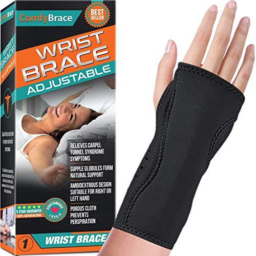 VGOSITE ForNight Wrist Sleep Support Brace–Fits entrambe Le Mani–Imbottito a Supporto del Tunnel Carpale e alleviare e Trattamento dolori al Polso, Regolabile, Fitted-comfybrace