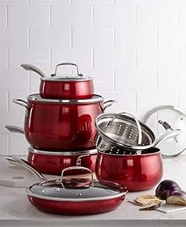 Belgique Nonstick Aluminum 11-Pc. Cookware Set, Red