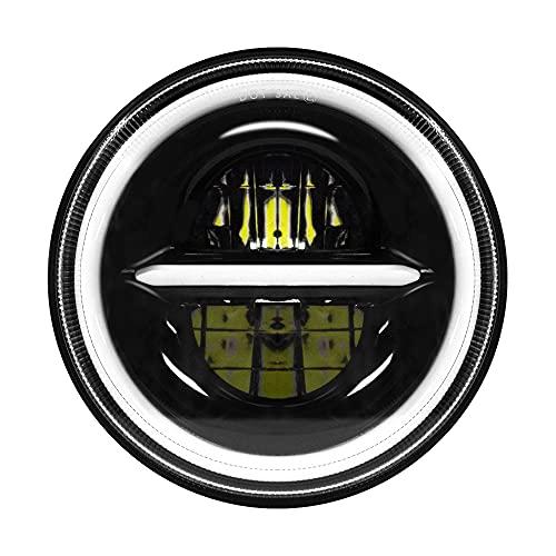 MONDEVIEW 7' Faro LED Para Motocicleta Harley Davidson Wrangler 200W 20000LM Cromado DRL Angel Eye 6000K+4300K Ámbar Ultra clásico Electra Street Glide Road King Heritage Softail Deluxe Slim Fatboy