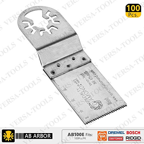 For Sale! 100pk Fast Cut Wood & Plastic Multi Tool Blades Compatible With Fein multimaster - AB100E