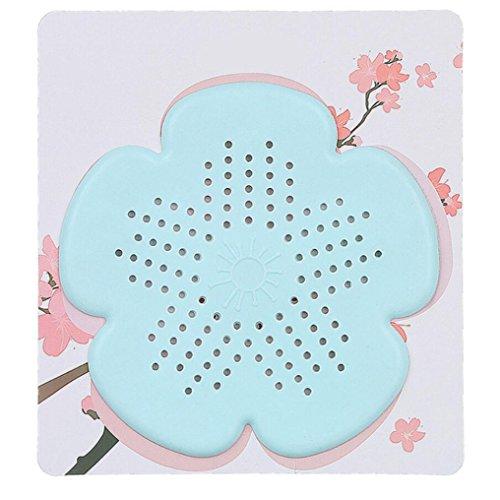 Hunpta Filtre d'évacuation des eaux usées en forme de fleur de cerisier pour évier de salle de bain, cuisine, bouchon anti-blocage pour revêtement de sol, filtre à cheveux (vert)