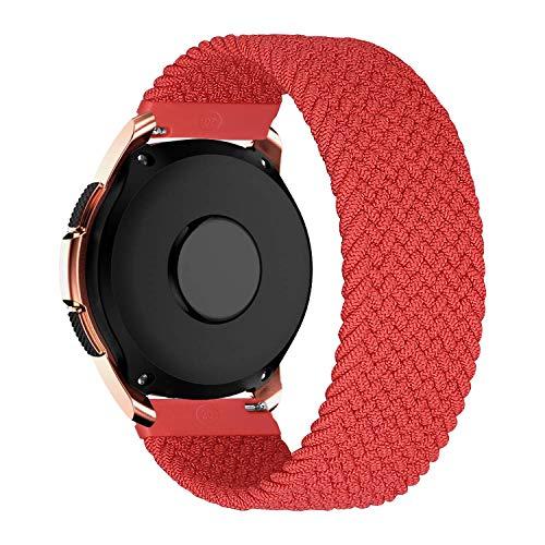 MroTech 20mm Uhrenarmband kompatibel fur Samsung Galaxy Watch 42MMActive 2Active2 40mm44mmGalaxy Watch3 41mm Armband fur GT 2 42MMGTR 42 mmGTS Nylon Loop Stoff Elastic Woven Band RotS