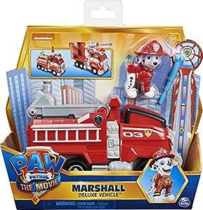 PAW PATROL Marshall-Coche camión de Bomberos transformable con Figura de acción Coleccionable, Juguetes para niños a Partir de 3 años (Spin Master 6060435)
