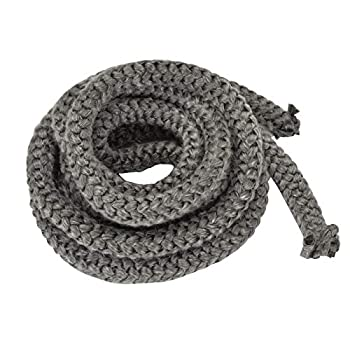 Stanbroil Graphite Impregnated Fiberglass Rope Seal Gasket Replacement for Wood Stoves - 1/2  x 84