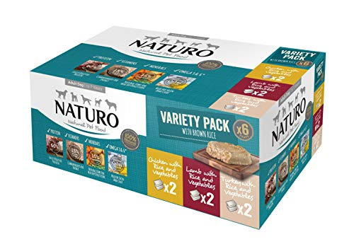 Naturo Wet Food for Adult Dog Variety 18-Pieces Pack