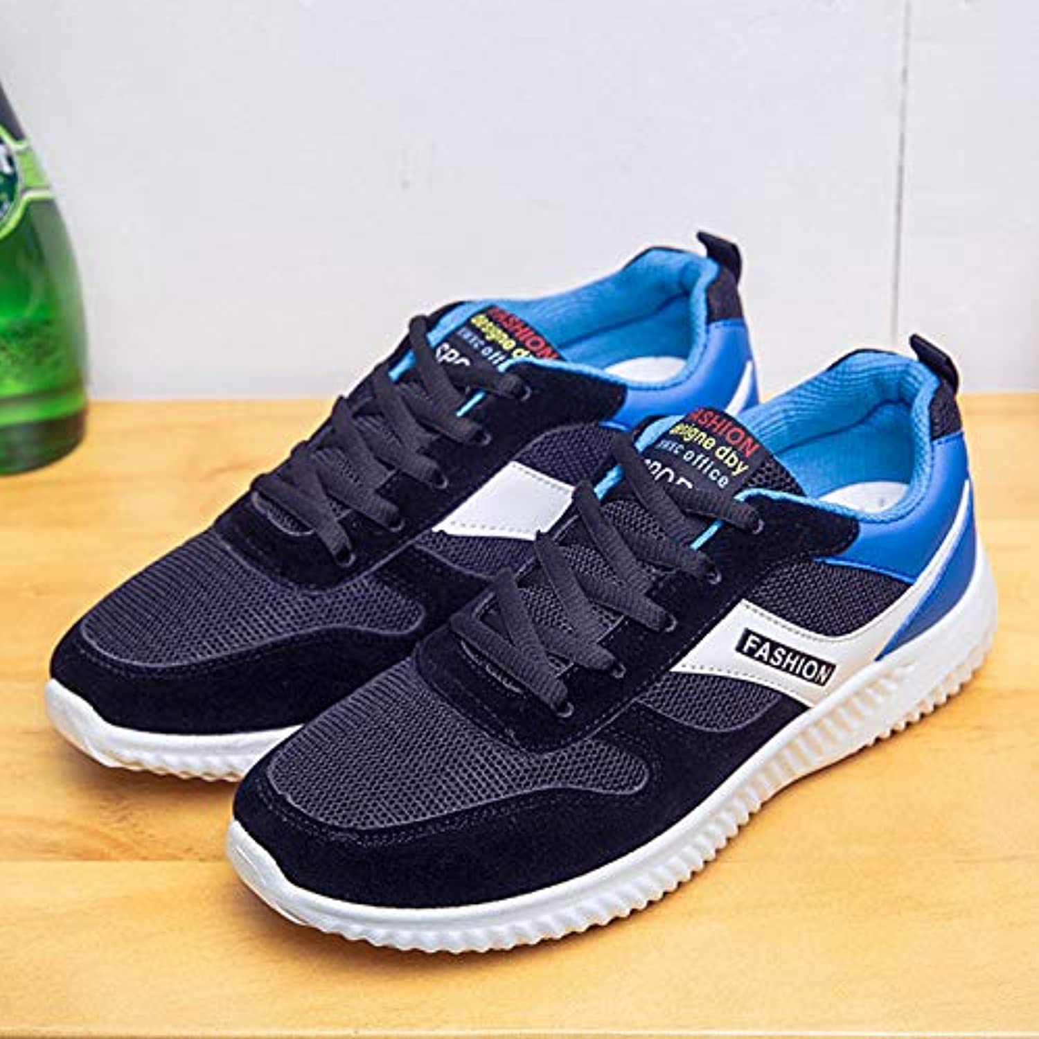 LOVDRAM Men's shoes Spring And Autumn Korean Men'S shoes Tide shoes Men'S Sports shoes Breathable Youth Mesh Running shoes Casual shoes
