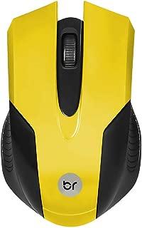Mouse Canadá Bright USB Preto/Amarelo